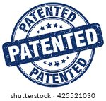 patented. stamp | Shutterstock .eps vector #425521030