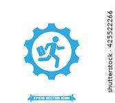 man in gear icon vector... | Shutterstock .eps vector #425522266