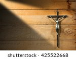 crucifixion of jesus christ  ... | Shutterstock . vector #425522668