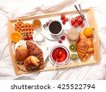 breakfast in bed | Shutterstock . vector #425522794