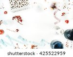 frame decorated with...   Shutterstock . vector #425522959