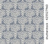 lace seamless pattern with...   Shutterstock .eps vector #425527960