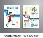 vector brochure  flyer ... | Shutterstock .eps vector #425529559