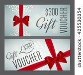 gift voucher template. vector... | Shutterstock .eps vector #425530354