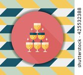 wedding champagne flat icon... | Shutterstock .eps vector #425532388