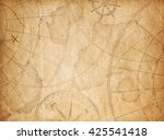 aged pirates treasure map... | Shutterstock . vector #425541418