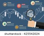hand holding magnifying glass...   Shutterstock .eps vector #425542024