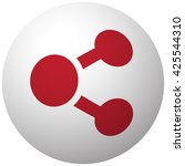 red share icon on white ball   Shutterstock .eps vector #425544310