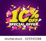 special offer sale concept with ... | Shutterstock .eps vector #425545288