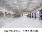 new modern storehouse  blurred... | Shutterstock . vector #425545408