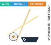 sushi with sticks icon. vector...