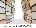 Stacks Of Books Making A...