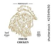 Hand Drawn Food Logo. Engraved...