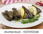 sarma is a turkish traditional... | Shutterstock . vector #425550268