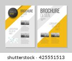 yellow brochure cover design... | Shutterstock .eps vector #425551513