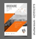 leaflet brochure flyer template ... | Shutterstock .eps vector #425551573