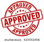 approved. stamp | Shutterstock .eps vector #425552458