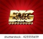 big sale concept vector banner. | Shutterstock .eps vector #425555659