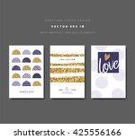 set of greeting cards with... | Shutterstock .eps vector #425556166