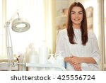 young beautiful cosmetologist... | Shutterstock . vector #425556724