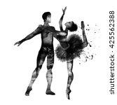 ballet. watercolor.   Shutterstock . vector #425562388