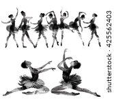 ballet. watercolor. | Shutterstock . vector #425562403