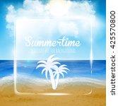 beautiful sand of beach scene...   Shutterstock .eps vector #425570800