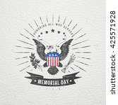 happy memorial day. the... | Shutterstock .eps vector #425571928