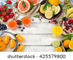 citrus juice  fresh fruits and... | Shutterstock . vector #425579800