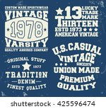 t shirt print design. set... | Shutterstock .eps vector #425596474
