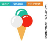 ice cream cone icon. vector...