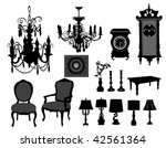 antique furniture | Shutterstock .eps vector #42561364