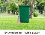 trash bin at park. | Shutterstock . vector #425616694