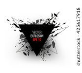 abstract explosion cloud of