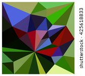 low polygon triangle pattern... | Shutterstock . vector #425618833