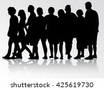 people silhouettes | Shutterstock .eps vector #425619730
