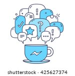 vector illustration of blue... | Shutterstock .eps vector #425627374