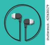 vector illustration headphones...   Shutterstock .eps vector #425630179