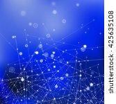 vector blue technology... | Shutterstock .eps vector #425635108