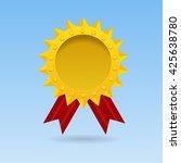 golden blank medal award with... | Shutterstock .eps vector #425638780