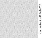gray and white geometric... | Shutterstock .eps vector #425644693