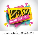 super sale layout design with... | Shutterstock .eps vector #425647618