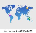 vector world map with various... | Shutterstock .eps vector #425649670