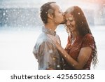 couple in love hugging and... | Shutterstock . vector #425650258