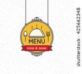 restaurant menu design. vector... | Shutterstock .eps vector #425662348