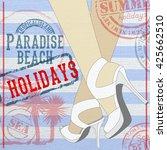 advertisement summer holiday on ...   Shutterstock .eps vector #425662510