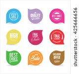 modern badges and labels... | Shutterstock .eps vector #425666656