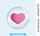 heart bubble vector... | Shutterstock .eps vector #425666704
