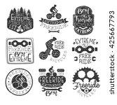 freeride bikes vintage stamp...   Shutterstock .eps vector #425667793