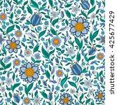 seamless vector floral pattern... | Shutterstock .eps vector #425677429